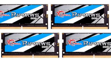Photo of G. Skill lanza el kit de memorias SO-DIMM DDR4 mas rápidos del mundo