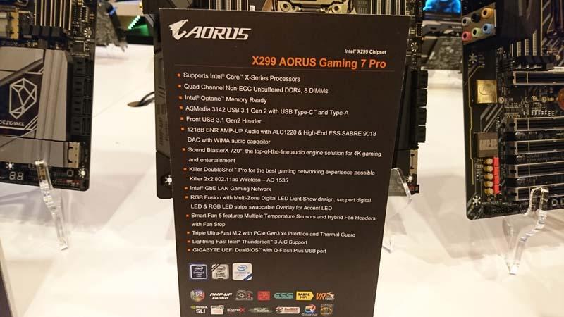 Gigabyte Aorus X299 Gaming 7 Pro