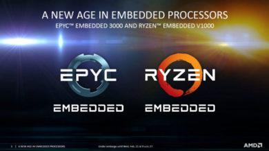 Photo of AMD anuncia los procesadores embebidos EPYC 3000 y Ryzen V1000