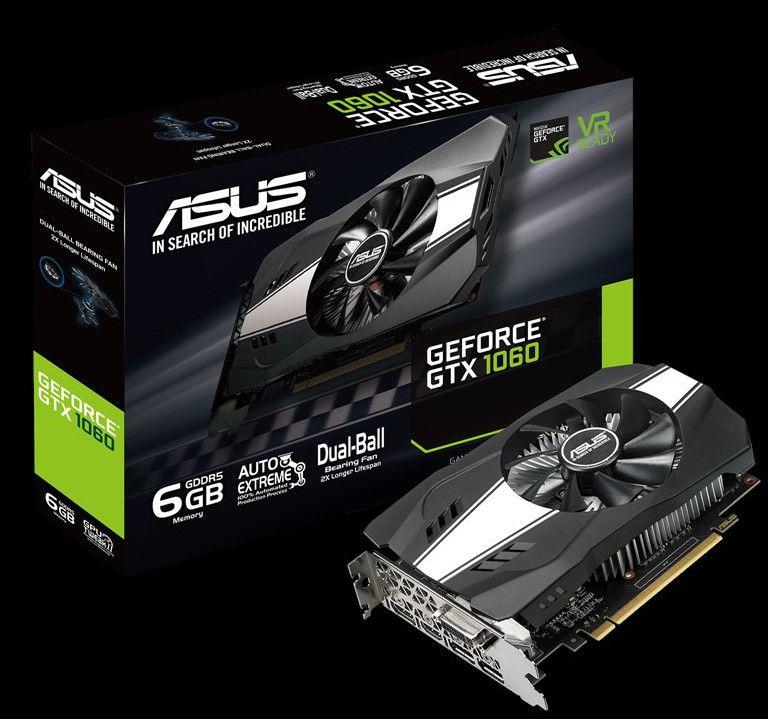 ASUS anuncia la tarjeta gráfica GeForce GTX 1060 Phoenix de 6GB