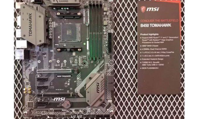 Photo of MSI presento las placas base B450 Tomahawk y A-Pro en el Computex
