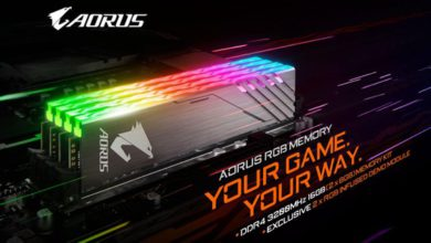Photo of Gigabyte lanza las memorias AORUS RGB de 3200 y con efectos RGB